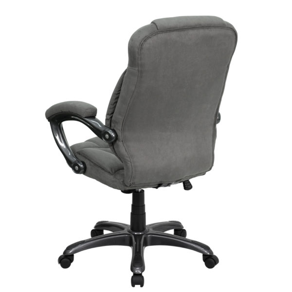 Contemporary Office Chair Gray High Back Chair