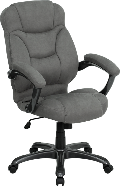 Wholesale High Back Gray Microfiber Contemporary Executive Swivel Ergonomic Office Chair with Arms