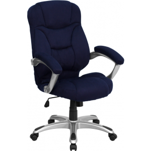 Wholesale High Back Navy Blue Microfiber Contemporary Executive Swivel Ergonomic Office Chair with Arms