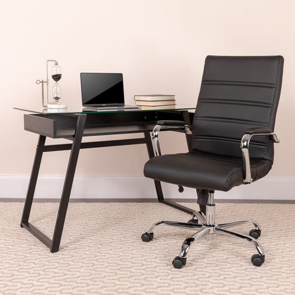 Lowest Price High Back Office Chair | High Back LeatherSoft Executive Office Swivel Chair with Wheels