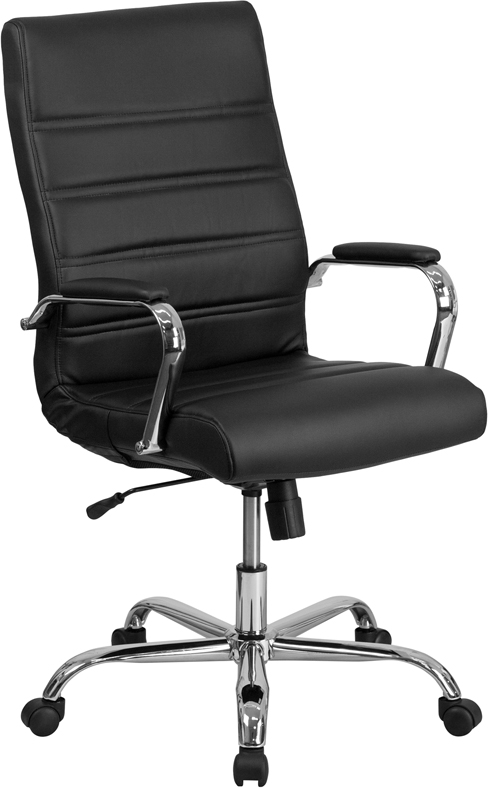 Wholesale High Back Office Chair | High Back LeatherSoft Executive Office Swivel Chair with Wheels