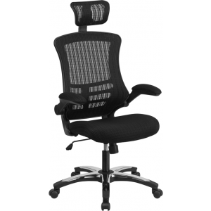 Wholesale High Back Office Chair | High Back Mesh Executive Office and Desk Chair with Wheels and Adjustable Headrest