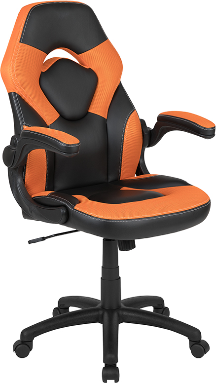 Wholesale High Back Racing Style Ergonomic Gaming Chair with Flip-Up Arms