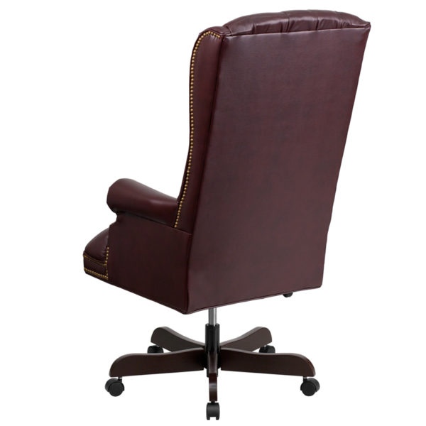 Traditional Office Chair Burgundy High Back Chair