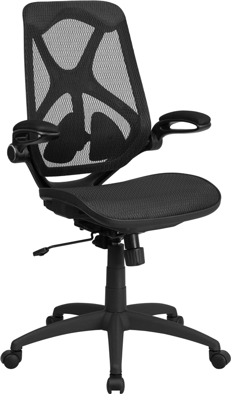Wholesale High Back Transparent Black Mesh Executive Ergonomic Office Chair with Adjustable Lumbar