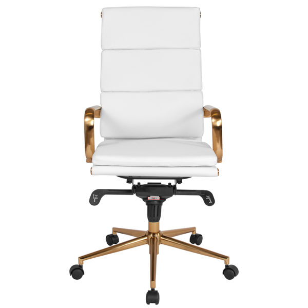 Contemporary Office Chair White High Back Office Chair
