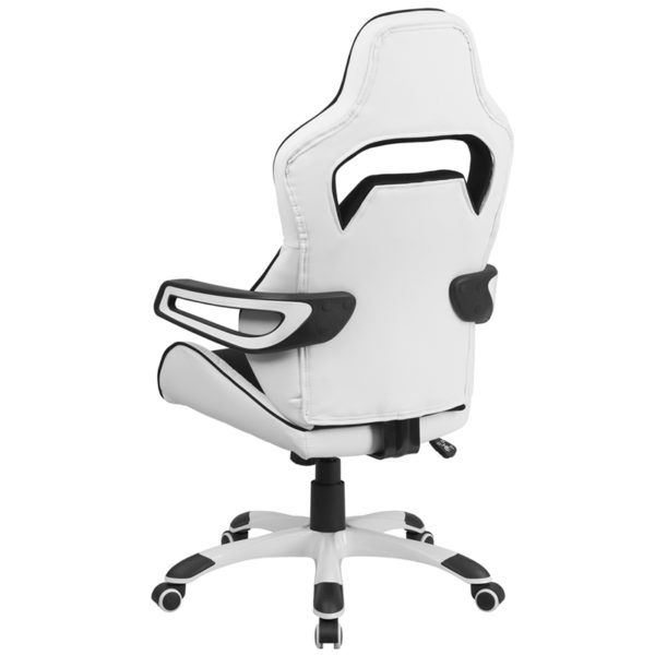 Contemporary Office Chair Black/White High Back Chair