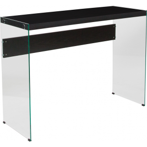 Wholesale Highwood Collection Dark Ash Finish Console Table with Glass Frame