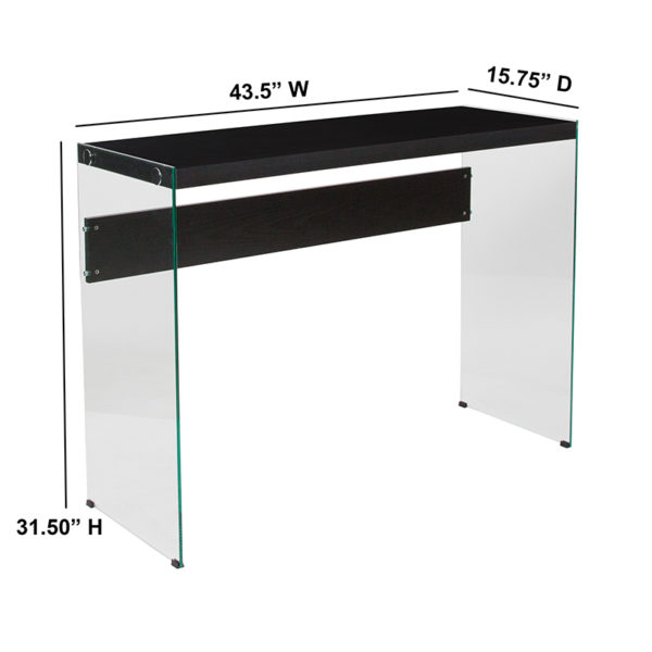 Contemporary Style Dark Ash Console Table