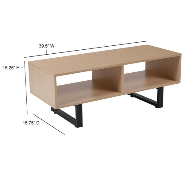 Contemporary Style Beech TV Stand/Console