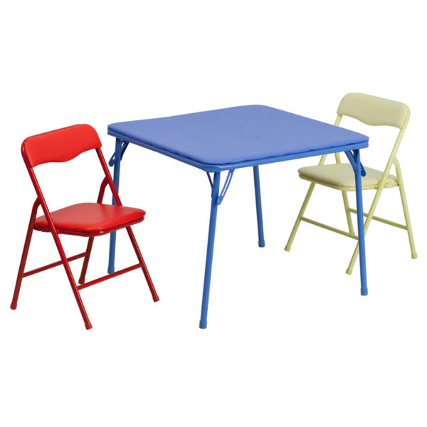 Wholesale Kids Colorful 3 Piece Folding Table and Chair Set