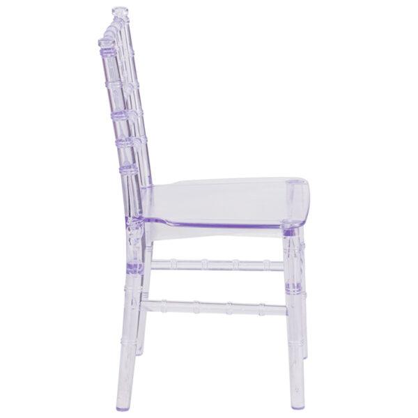 Lowest Price Kids Crystal Transparent Chiavari Chair