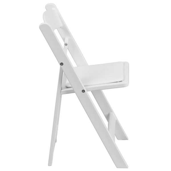 Set of 2 kids white resin folding chairs with padded seats Kids White Resin Folding Chair