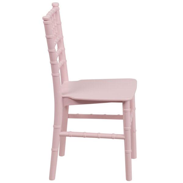 Lowest Price Kids Pink Resin Chiavari Chair