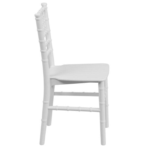 Lowest Price Kids White Resin Chiavari Chair