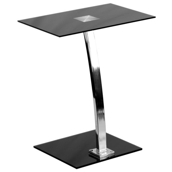 Wholesale Laptop Computer Desk with Silk Black Tempered Glass Top