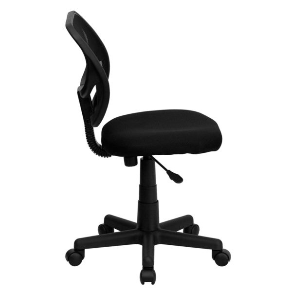 Contemporary Task Office Chair Black Low Back Task Chair