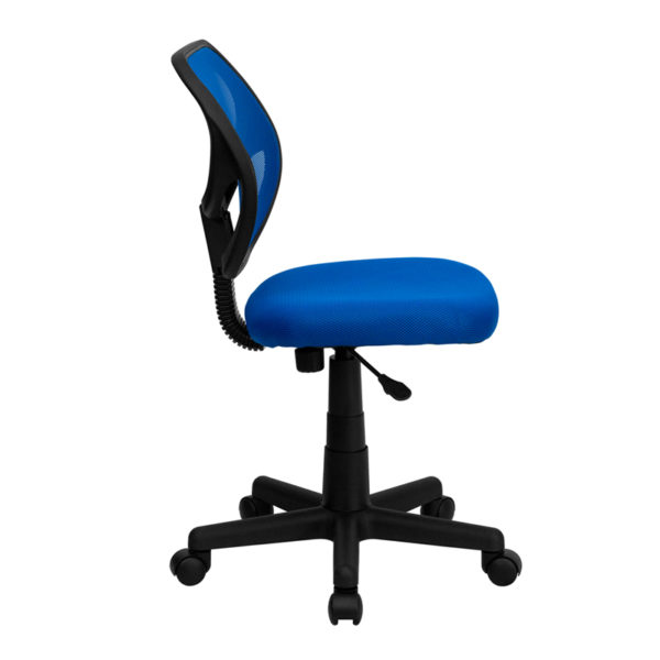 Lowest Price Low Back Blue Mesh Swivel Task Office Chair