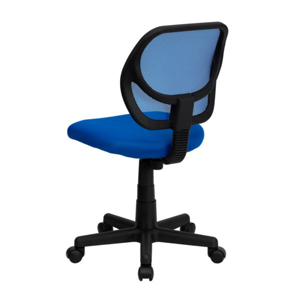 Contemporary Task Office Chair Blue Low Back Task Chair