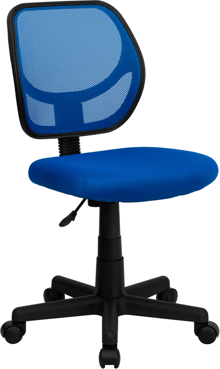 Wholesale Low Back Blue Mesh Swivel Task Office Chair