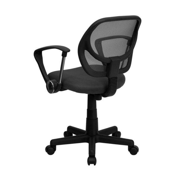 Contemporary Task Office Chair Gray Low Back Task Chair