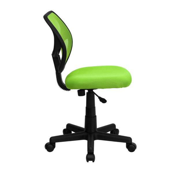 Lowest Price Low Back Green Mesh Swivel Task Office Chair