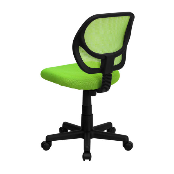 Contemporary Task Office Chair Green Low Back Task Chair
