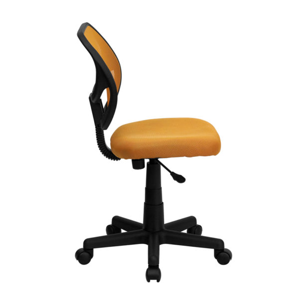 Lowest Price Low Back Orange Mesh Swivel Task Office Chair