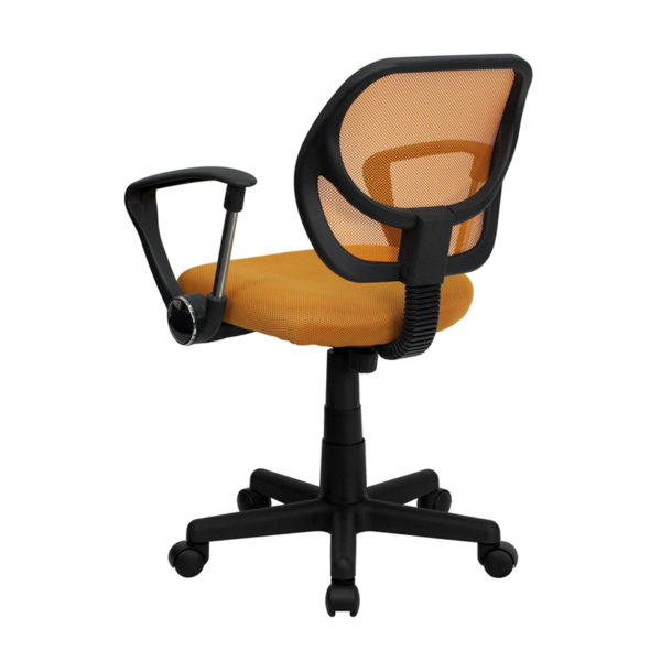 Contemporary Task Office Chair Orange Low Back Task Chair