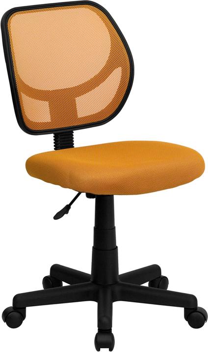 Wholesale Low Back Orange Mesh Swivel Task Office Chair
