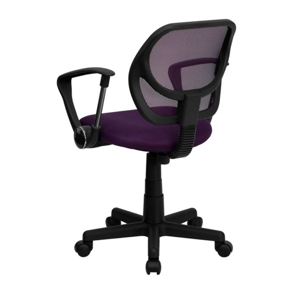 Contemporary Task Office Chair Purple Low Back Task Chair