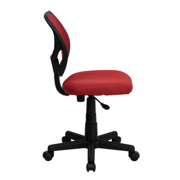 Lowest Price Low Back Red Mesh Swivel Task Office Chair