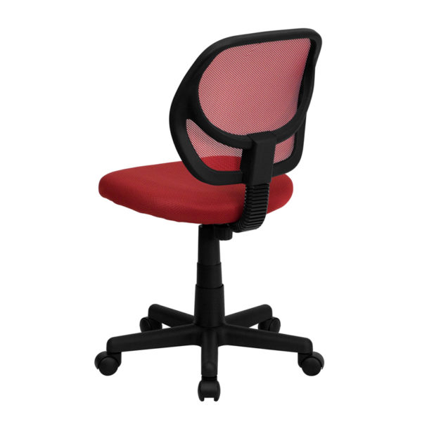 Contemporary Task Office Chair Red Low Back Task Chair