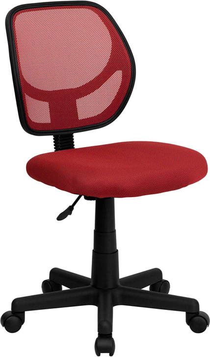 Wholesale Low Back Red Mesh Swivel Task Office Chair