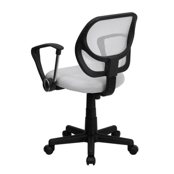 Contemporary Task Office Chair White Low Back Task Chair