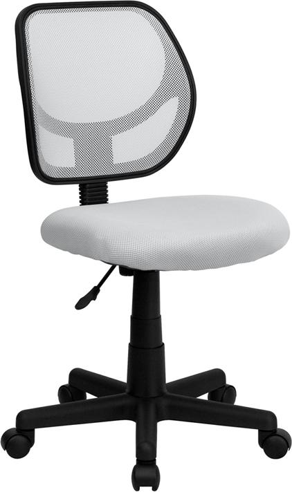 Wholesale Low Back White Mesh Swivel Task Office Chair