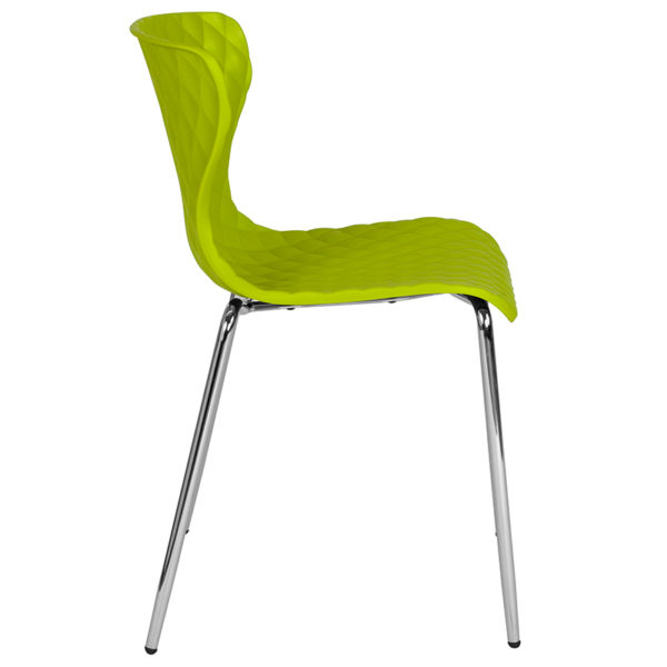 Lowest Price Lowell Contemporary Design Citrus Green Plastic Stack Chair