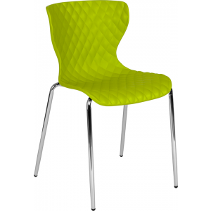 Wholesale Lowell Contemporary Design Citrus Green Plastic Stack Chair
