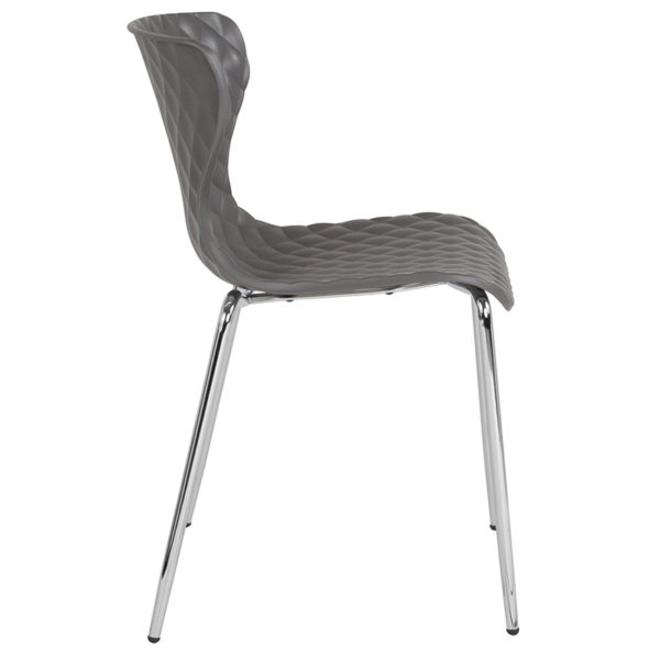 Lowest Price Lowell Contemporary Design Gray Plastic Stack Chair