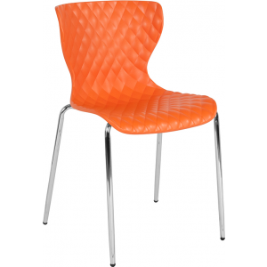 Wholesale Lowell Contemporary Design Orange Plastic Stack Chair