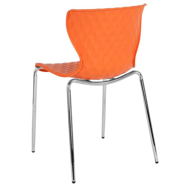 Multipurpose Stack Chair Orange Plastic Stack Chair
