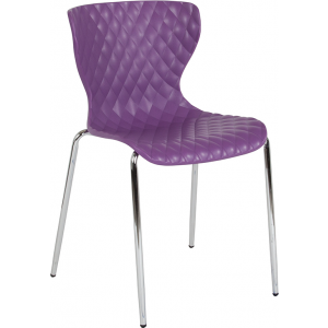 Wholesale Lowell Contemporary Design Purple Plastic Stack Chair