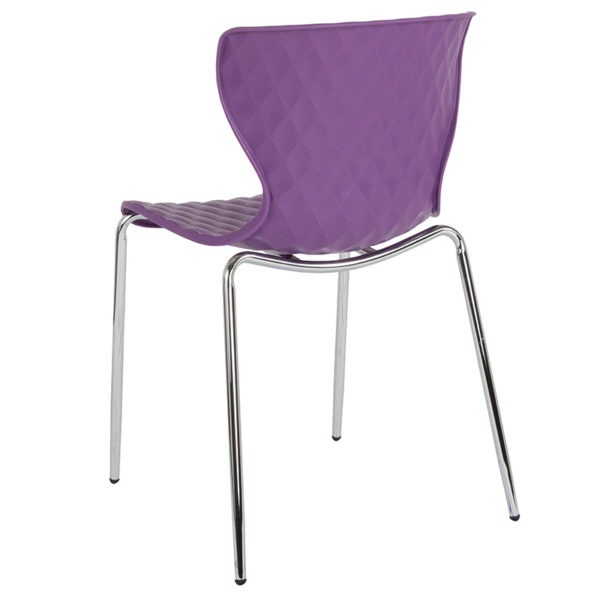 Multipurpose Stack Chair Purple Plastic Stack Chair