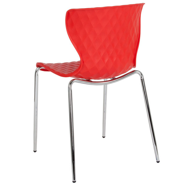 Multipurpose Stack Chair Red Plastic Stack Chair