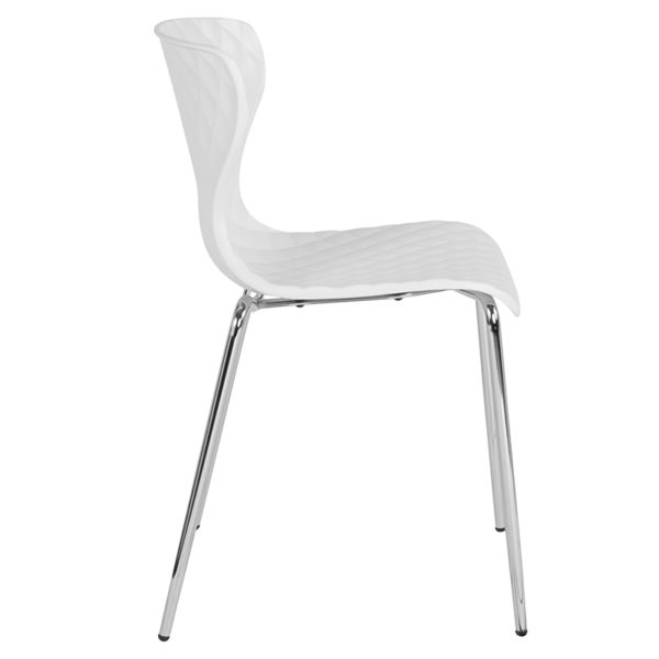 Lowest Price Lowell Contemporary Design White Plastic Stack Chair
