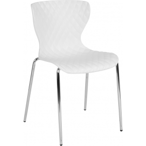 Wholesale Lowell Contemporary Design White Plastic Stack Chair