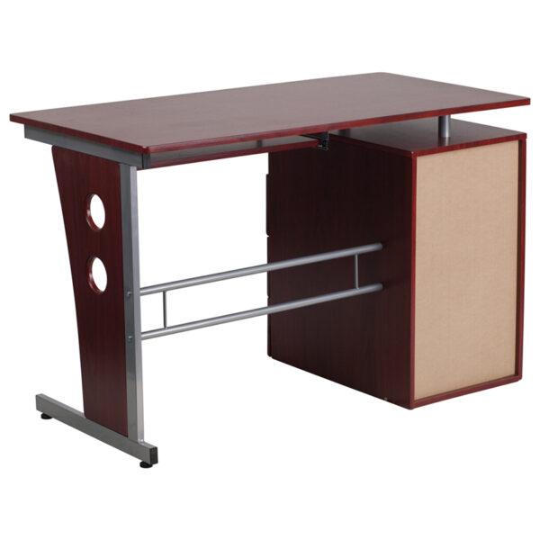 Contemporary Style Mahogany Desk