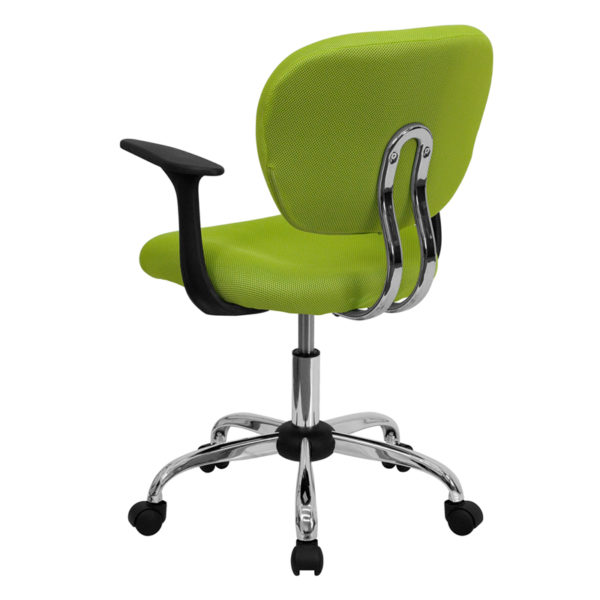 Contemporary Task Office Chair Apple GRN Mid-Back Task Chair