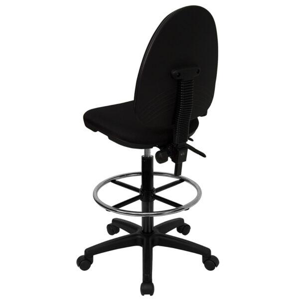 Contemporary Draft Stool Black Fabric Draft Chair