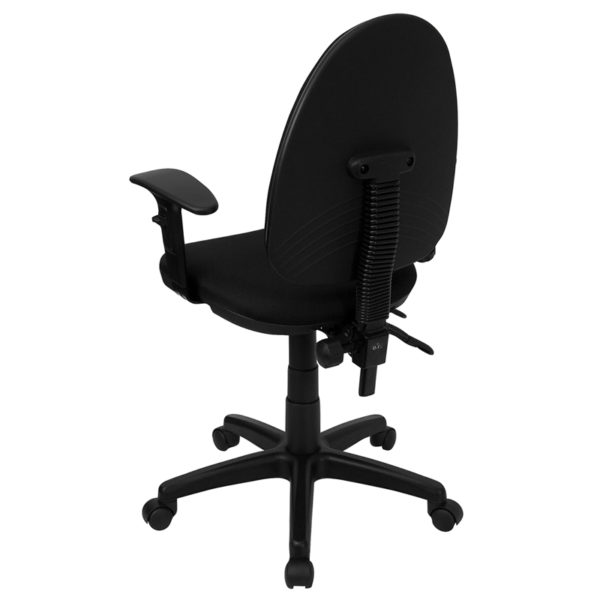 Contemporary Task Office Chair Black Mid-Back Task Chair